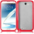 BasAcc Clear/ Red TPU Case for Samsung Galaxy S Note 2 N7100