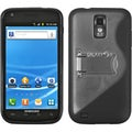 BasAcc Clear/ Solid Black Gummy Case for Samsung� Galaxy S II T989