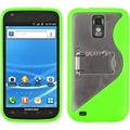 BasAcc Clear/ Solid Green Gummy Case for Samsung� Galaxy S II T991