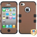 BasAcc Coffee/ Black TUFF Hybrid Phone Case for Apple� iPhone 4S/ 4