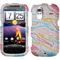 BasAcc Colorful Zebra/ Diamante Phone Case for HTC Amaze 4