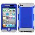 BasAcc Dark Blue/ Grey TUFF Hybrid Case for Apple iPod touch 4