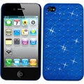 BasAcc Dark Blue Lattice Dazzling Back case for Apple� iPhone 4/ 4S