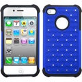 BasAcc Dark Blue/ Black Lattice Case for Apple iPhone 4/ 4S