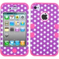 BasAcc Dots/ Electric Pink TUFF Case for Apple iPhone 4/ 4S