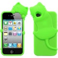 BasAcc Electric Green Cat Peeking Pet Skin Case for Apple iPhone 4/ 4S