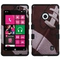 BasAcc Football/ Black TUFF Hybrid Case for Nokia 521 Lumia