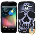BasAcc Gun Metal Plating/ Black Skullcap Case for Motorola Moto X