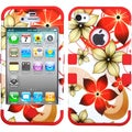 BasAcc Hibiscus Flower Romance/ Red TUFF Case for Apple iPhone 4/ 4S