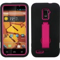 BasAcc Hot Pink/ Black Symbiosis Stand Case for ZTE N9510 Warp 4G