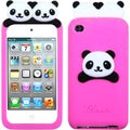 BasAcc Hot Pink Peeking Panda Pastel Skin Case for Apple� iPod touch 4