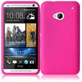 BasAcc Hot Pink Silicone Case for HTC One M7