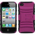 BasAcc Hot Pink/ Black Armor Stand Case for Apple� iPhone 4/ 4S