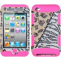 BasAcc Hottie Diamante/ Pink TUFF Case for Apple iPod Touch 4