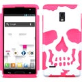 BasAcc Ivory White/ Electric Pink Skullcap Case for LG P769 Optimus L9
