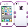 BasAcc Ivory White/ Purple TUFF Hybrid Case for Apple iPhone 4/ 4S