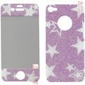 BasAcc LCD Pink Star Glitter Screen Protector for Apple iPhone 4S/ 4