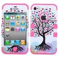 BasAcc Love Tree/ Electric Pink TUFF Case for Apple iPhone 4/ 4S