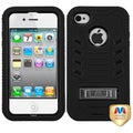BasAcc Natural Black/ Black TUFF Case for Apple iPhone 4/ 4S