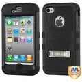 BasAcc Natural Black/ Black TUFF Hybrid Case for Apple iPhone 4/ 4S