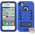 BasAcc Natural Black/ Dark Blue TUFF Case for Apple iPhone 4/ 4S