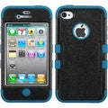 BasAcc Natural Black/ Turquoise TUFF Case for Apple iPhone 4/ 4S