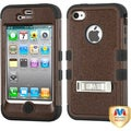 BasAcc Natural Brown/ Black TUFF Hybrid Case for Apple iPhone 4/ 4S