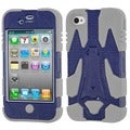 BasAcc Natural Dark Blue/ Grey Cyborg Case for Apple iPhone 4/ 4S
