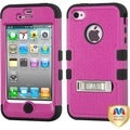 BasAcc Natural Hot Pink/ Black TUFF Hybrid Case for Apple iPhone 4/ 4S