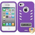 BasAcc Natural Ivory White/ Purple TUFF Case for Apple iPhone 4/ 4S