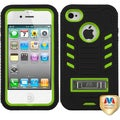 BasAcc Natural Pearl Green/ Black TUFF Case for Apple iPhone 4/ 4S