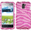 BasAcc Pink/ Hot Pink Zebra Skin Diamante Case for Huawei Premia 4G