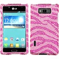 BasAcc Pink/ Hot Pink Zebra Skin Diamante Case for LG US730 Splendor