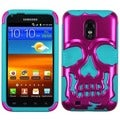 BasAcc Pink/ Teal Skullcap Case for Samsung Galaxy S2