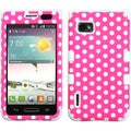BasAcc Pink/ White Dots/ White TUFF Case for LG VM720 Optimus F3