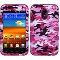 BasAcc Pink Flower Camo/ Hot Pink TUFF Case for Samsung Galaxy S2