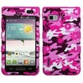 BasAcc Pink Flower Camo/ Pink TUFF Case for LG VM720 Optimus F3