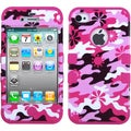 BasAcc Pink Flower Camo/ Hot Pink TUFF Case for Apple iPhone 4/ 4S