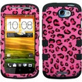 BasAcc Pink Leopard Skin/ Black TUFF Hybrid Case for HTC One