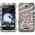 BasAcc Playful Leopard Diamante Case for ZTE X500 Score