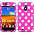 BasAcc Polka Dots/ Electric Purple TUFF Case for Samsung Galaxy S2