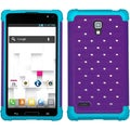 BasAcc Purple/ Tropical Teal TotalDefense Case for LG P769 Optimus L9