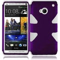 BasAcc Purple/ White Case for HTC One M7