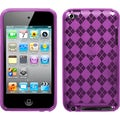 BasAcc Purple Argyle Candy Skin Case for Apple iPod touch 4