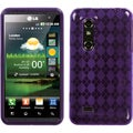 BasAcc Purple Argyle Candy Skin Case for LG P925 Thrill 4G