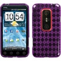 BasAcc Purple Argyle Candy Skin Case for HTC EVO 3D/ EVO V 4G