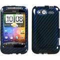 BasAcc Racing Fiber/ Blue Case for HTC Wildfire S GSM/ S CDMA