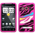 BasAcc Rainbow Zebra/ Hot Pink Pastel Skin Case for HTC EVO 4G