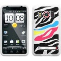 BasAcc Rainbow Zebra/ White Pastel Skin Case for HTC EVO 4G