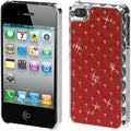 BasAcc Red Silver Plating Lattice Dazzling Case for Apple� iPhone 4S